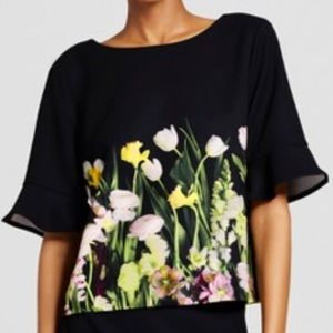 Victoria Beckham for Target  Flower Print Blouse